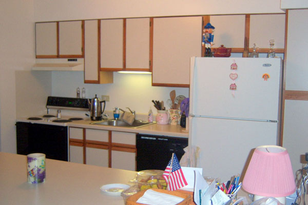 kitchen of weaukegan apartment