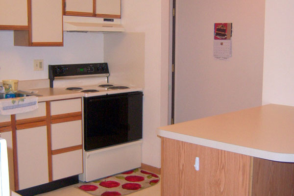 furnished kitchen of weaukegan apartment